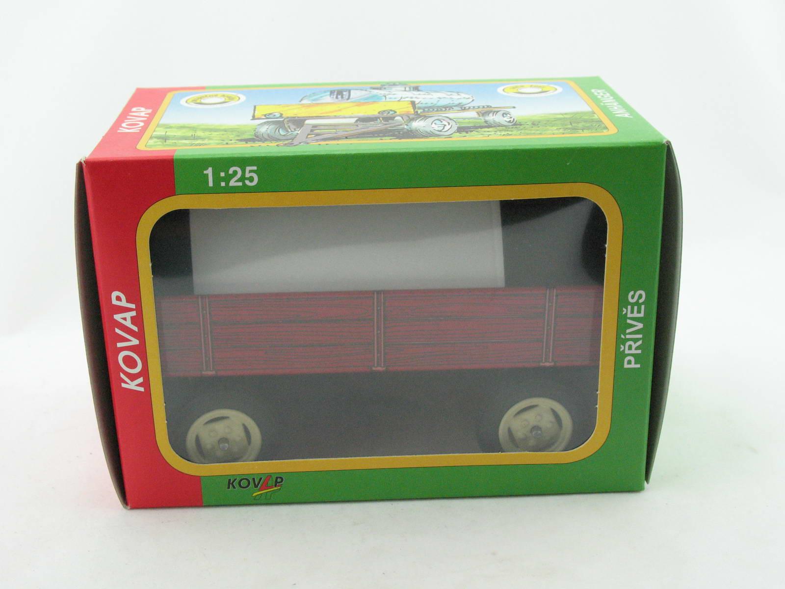 Blechspielzeug Traktor Anhänger rot von KOVAP 0430