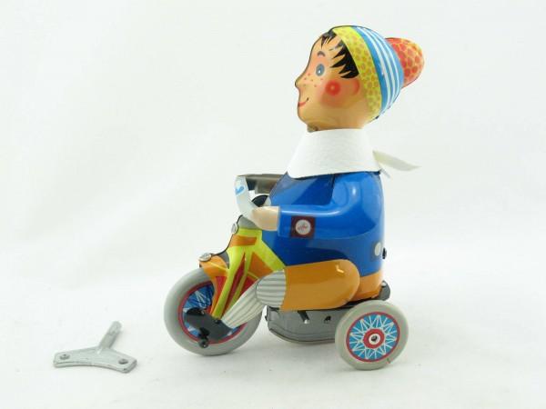Blechspielzeug - Junge mit Dreirad von KOVAP