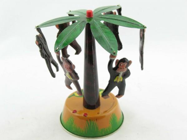 Blechspielzeug - Karussell Palme mit Affen D