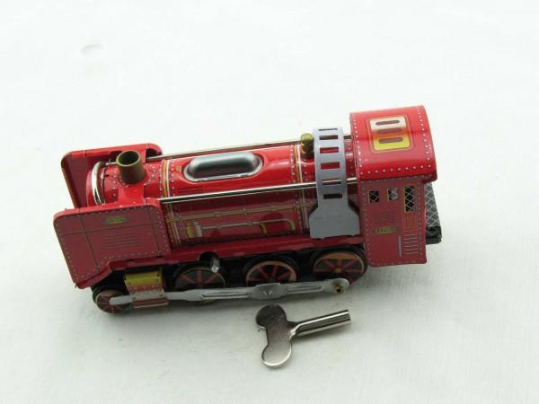 Blechspielzeug - Dampflokomotive rot