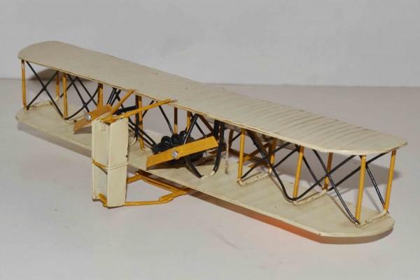 Blechmodell - Flugzeug Gebrüder Wright, klein
