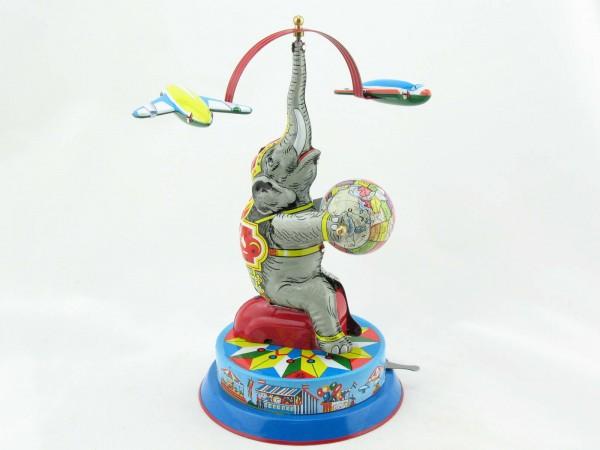 Blechspielzeug - Elefant mit Flugzeugen BRD