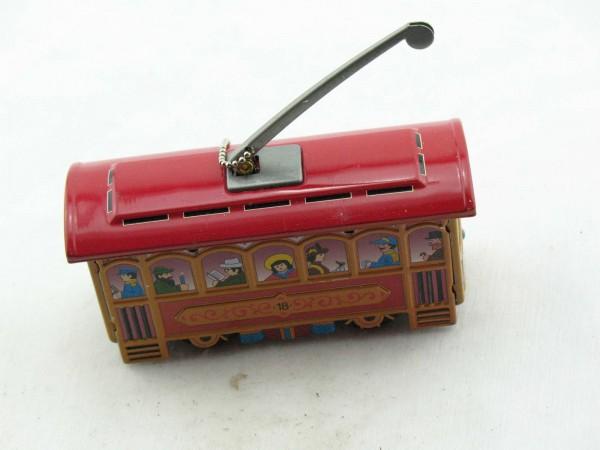 Blechspielzeug - Deko Straßenbahn
