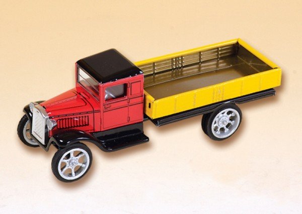 Hawkeye LKW Pritsche, rotes Führerhaus von KOVAP - Blechspielzeug