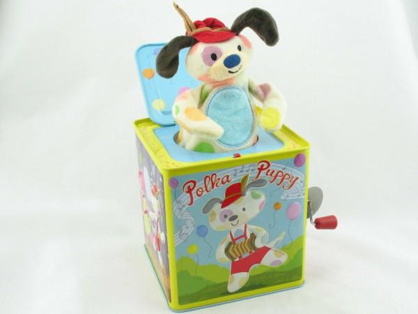 Blechspielzeug - Jack in the Box POLKA PUPPY
