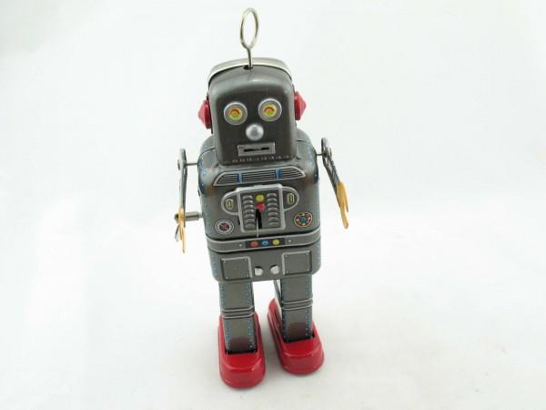 Blechspielzeug - Roboter Space Man, 22 cm silbergrau