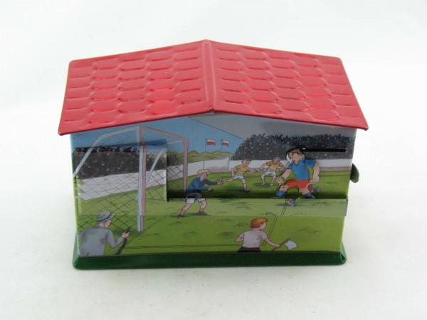 Blechspielzeug - Spardose Fußball, Elfmeter-Schießen