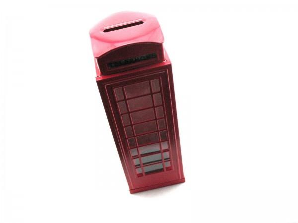 Blechspielzeug - Spardose Britische Telefonzelle