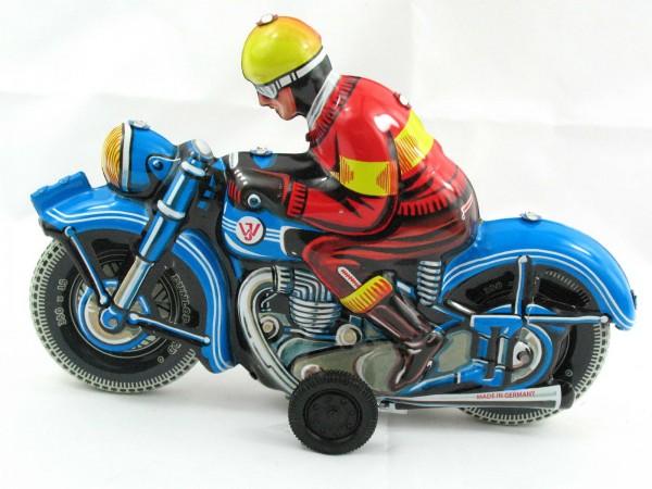 Blechspielzeug - Motorrad blau Deutschland