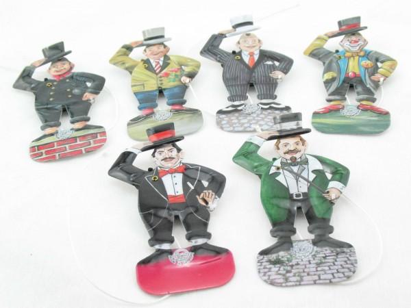Blechspielzeug - Figurenset Grußmännchen (6 Stück) D