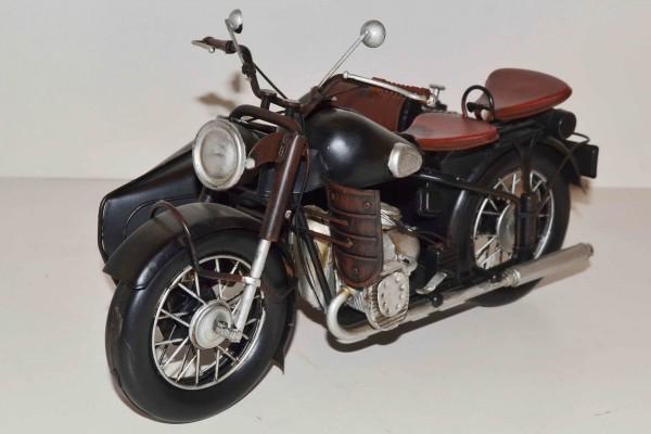 Blechmodell - Motorrad mit Beiwagen