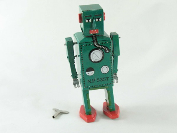 Blechspielzeug - Roboter Lilliput grün