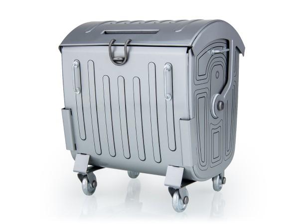 Spardose Müllcontainer, Neuheit 2021 von KOVAP - Blechspielzeug