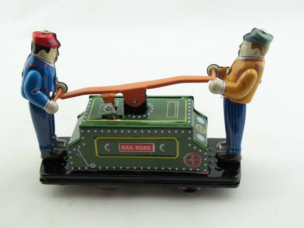 Blechspielzeug - Draisine in Sammler-Blechbox