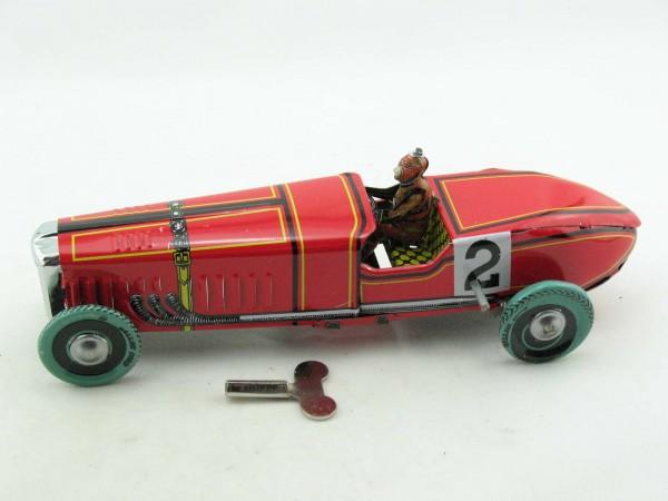 Blechspielzeug - Rennwagen rot Nr.2, Paya Nachbau