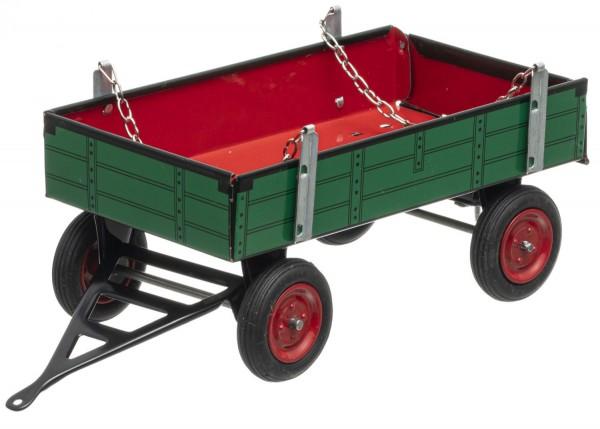 Traktor Anhänger grün/rot, Neuheit 2021 von KOVAP - Blechspielzeug