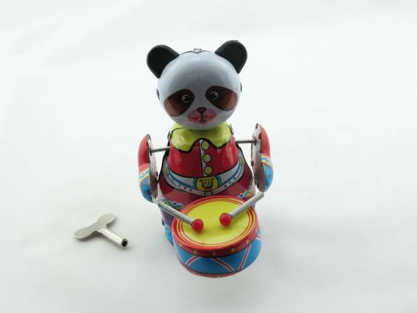 Blechspielzeug - Pandabär mit Trommel