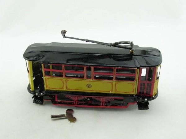 Blechspielzeug - Straßenbahn gelb