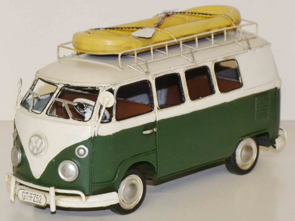 Blechmodell - VW-Bus T1 Classic mit Schlauchboot 1966