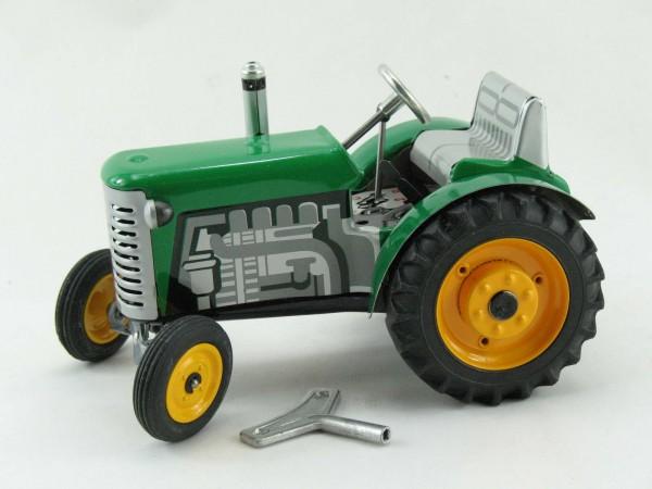 Traktor Zetor grün mit METALLFELGEN, Kovap-Neuheit 2019 – Blechspielzeug