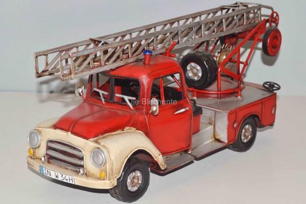 Blechmodell - Opel Firebrigade 1960 Leiterwagen