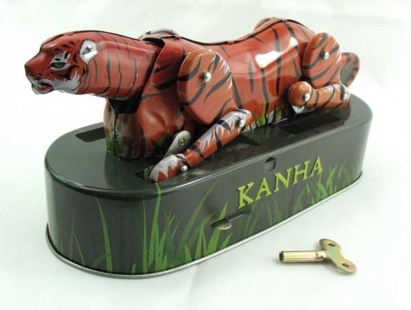 Blechspielzeug - Tiger Kanha auf der Pirsch