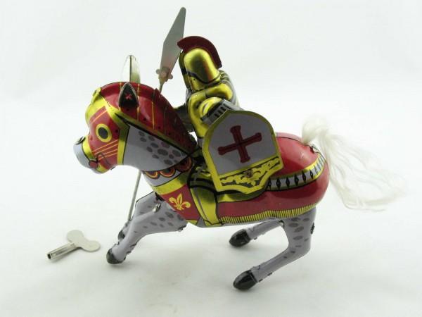 Blechspielzeug - Ritter auf Pferd