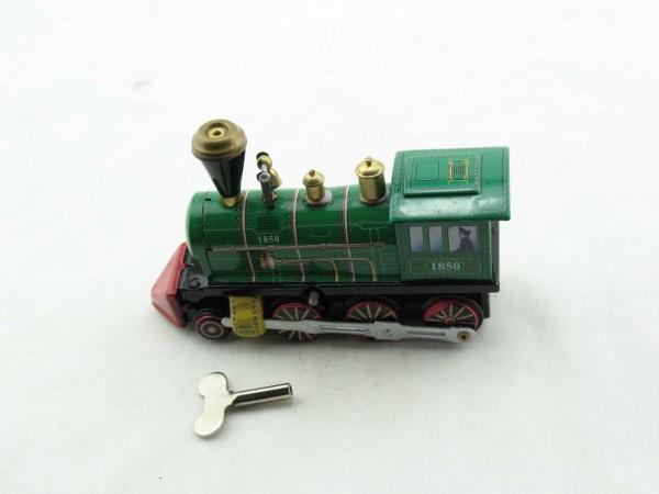 Blechspielzeug - Dampflok, Modell 1850, grün