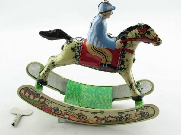 Blechspielzeug - Reiter auf Schaukelpferd, Rocking Horse