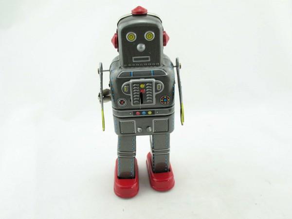 Blechspielzeug - Roboter Space Man, grau
