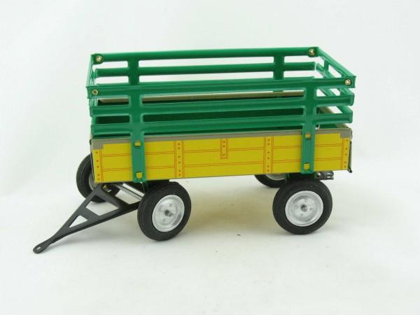 Traktor Anhänger für John Deere gelb grün von KOVAP - Blechspielzeug