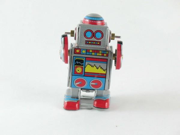 Blechspielzeug - Roboter klein, bunt