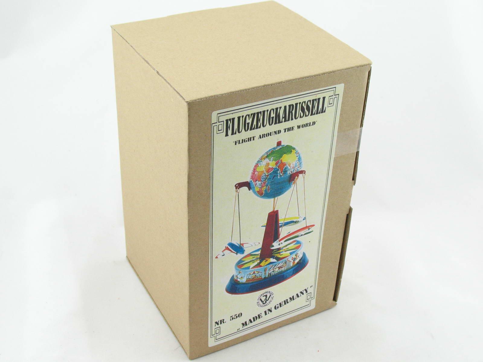Blechspielzeug Karussell Globus mit 3 Fliegern an Ketten BRD  2340550
