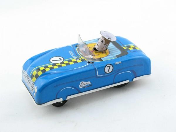 Blechspielzeug - Auto - Handdrückrennwagen, blau