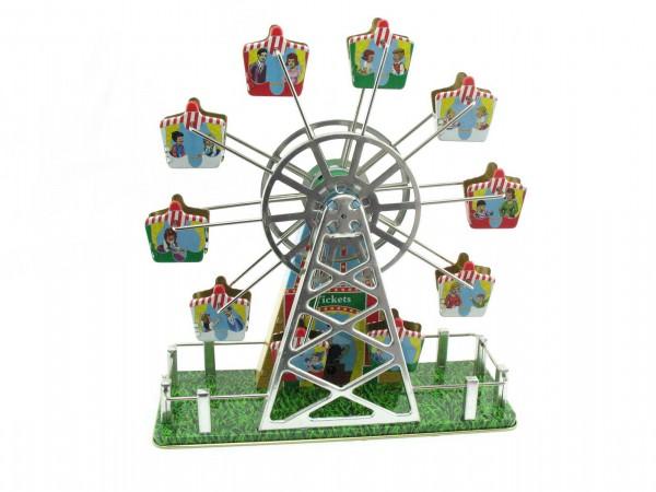 Blechspielzeug - Riesenrad mit Musikspieluhr im neuen Design