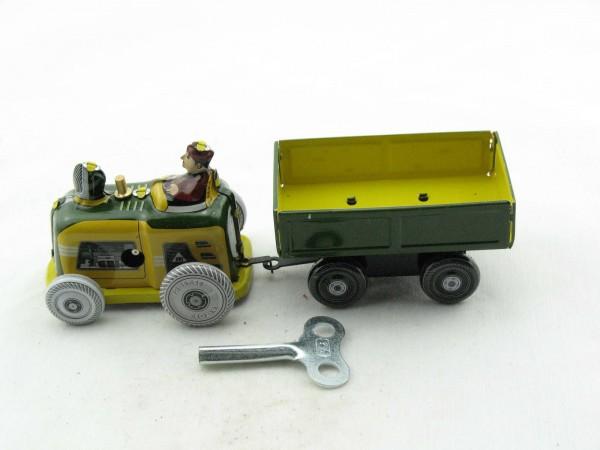 Blechspielzeug - Traktor mit Anhänger aus Blech
