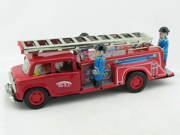 Blechspielzeug - Große Feuerwehr mit Leiter ( hebt sich )