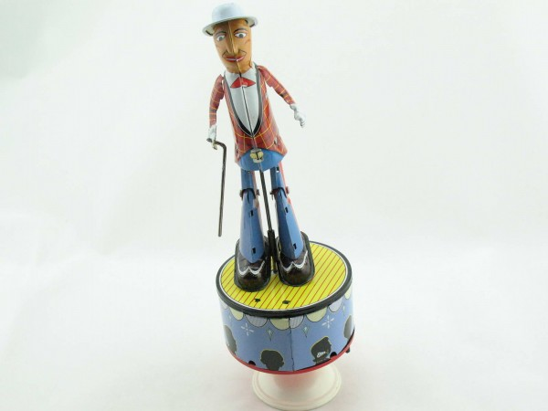 Blechspielzeug - Stepptänzer aus Blech mit blauer Hose