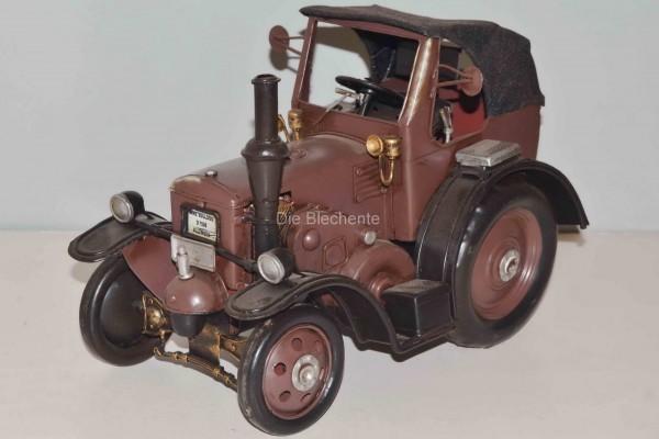 Blechmodell - Traktor, Schlepper Lanz 1950 braun mit Stoffverdeck ca.29 cm