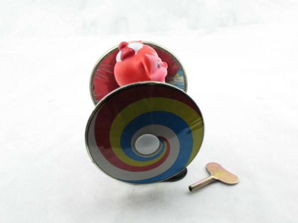 Blechspielzeug - Bär - Wirbelbär mit Scheiben