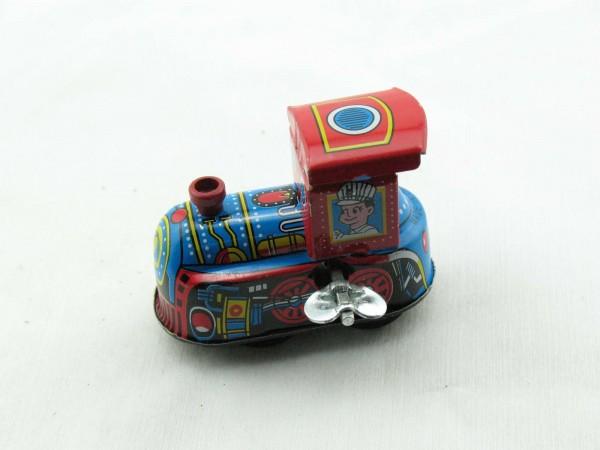 Blechspielzeug - Lokomotive, klein mit Uhrwerk