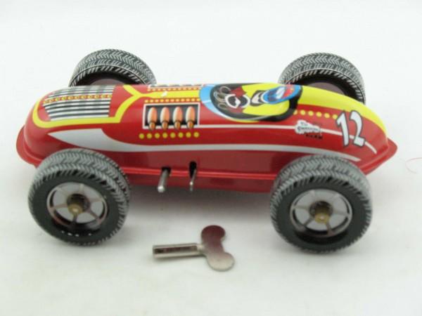 Blechspielzeug - Autorennwagen #12, mit Uhrwerk