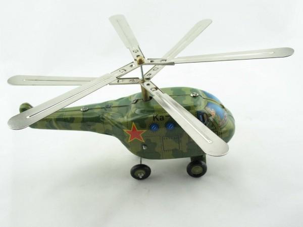 Blechspielzeug - Helikopter Ka-50 grün, Militär