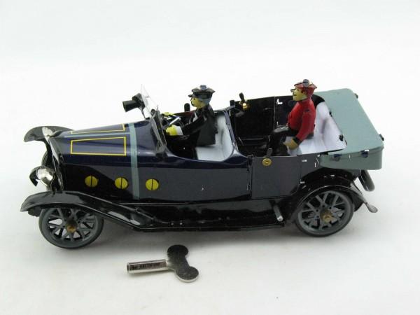 Blechspielzeug - Auto Cabrio mit Chauffeur, blau
