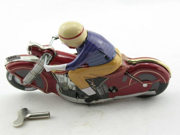 Blechspielzeug - Motorrad Motoracer Classic rot