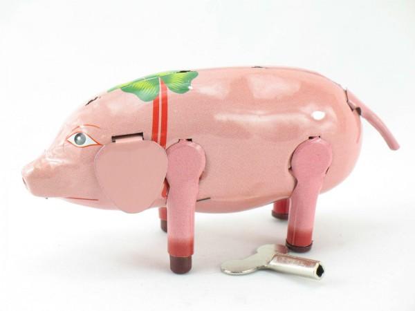 Blechspielzeug - Schwein Bibber