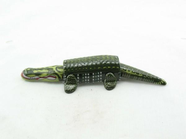Blechspielzeug - Wackelkrokodil, Alligator als 'Wackeldackel'