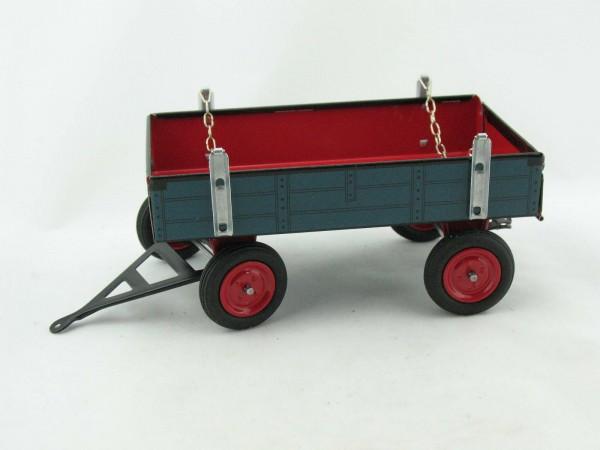 Traktor Anhänger für Lanz Bulldog, blau von KOVAP - Blechspielzeug