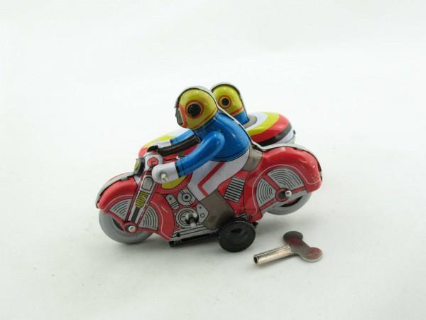 Blechspielzeug - Motorrad mit Beiwagen