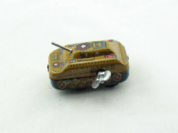 Blechspielzeug - Panzer U.S. Army, klein mit Schlüssel